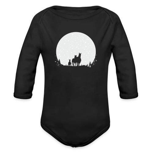 Drei Pferde Mond - Baby Bio-Langarm-Body