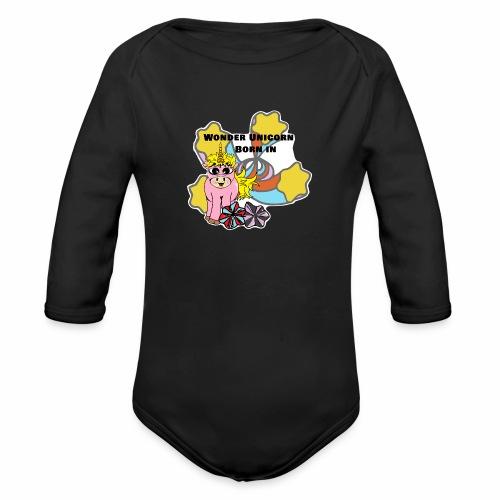 Merveilleuse Licorne née (pour fille) - Body Bébé bio manches longues