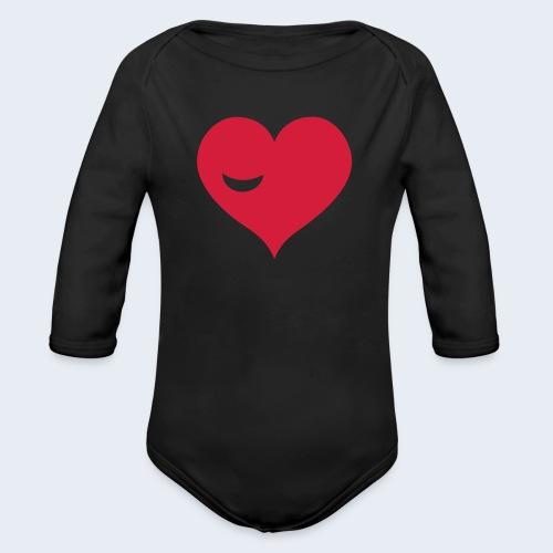 Winky Heart - Baby bio-rompertje met lange mouwen