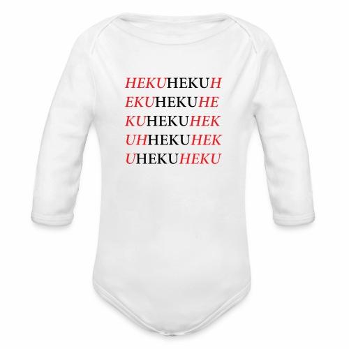 HekuHeku - Vauvan pitkähihainen luomu-body