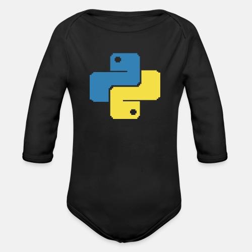 Python Pixelart - Organic Longsleeve Baby Bodysuit