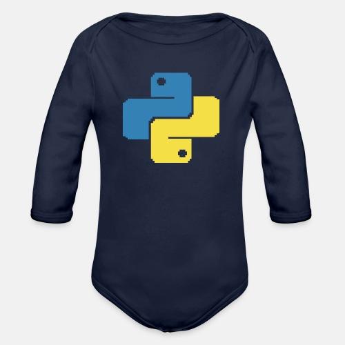 Python Pixelart - Baby Bio-Langarm-Body