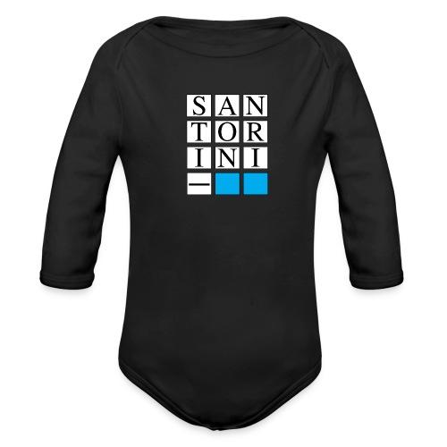 SANTORINI - Body ecologico per neonato a manica lunga