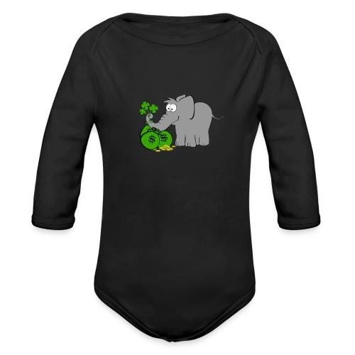 Der Gewinnofant - Baby Bio-Langarm-Body