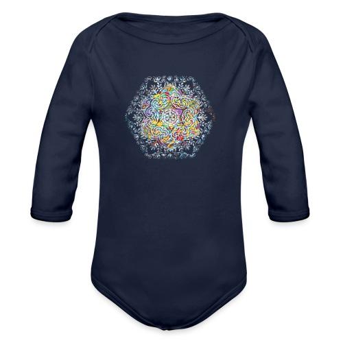 Flower Mandala - Organic Longsleeve Baby Bodysuit
