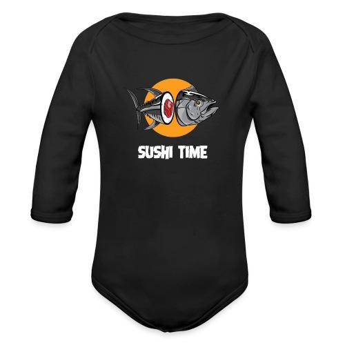 SUSHI TIME-tonno-b - Body ecologico per neonato a manica lunga