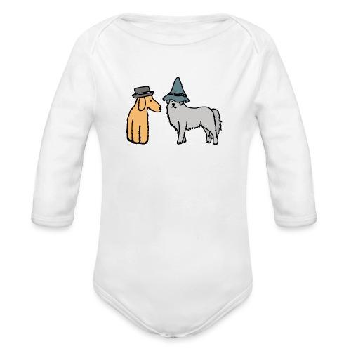 Hütehunde Hunde mit Hut Huetehund - Baby Bio-Langarm-Body