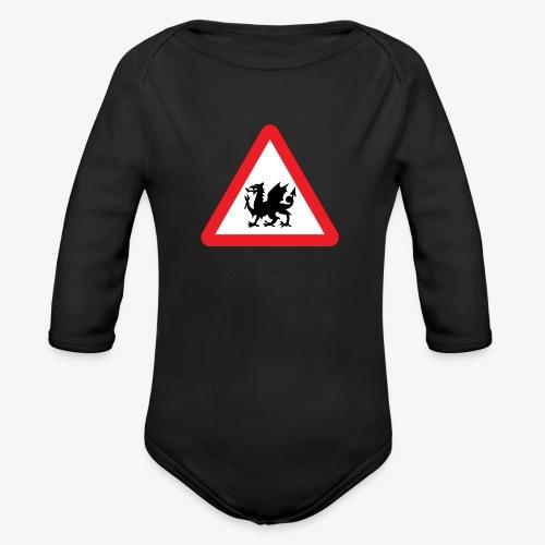 Welsh Dragon - Organic Longsleeve Baby Bodysuit