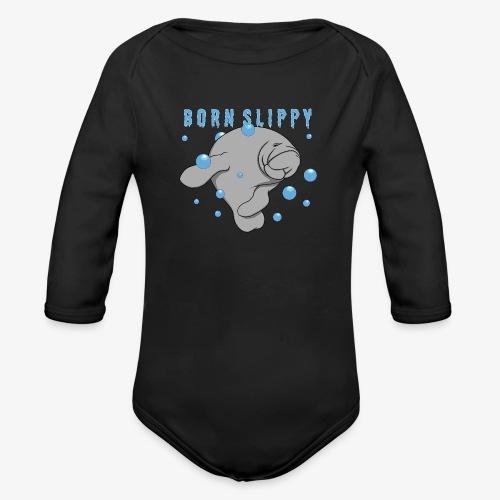 Born Slippy - Ekologisk långärmad babybody