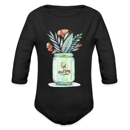 be awesome - Ekologiczne body niemowlęce z długim rękawem