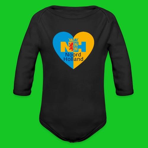 Noord Holland hart - Baby bio-rompertje met lange mouwen