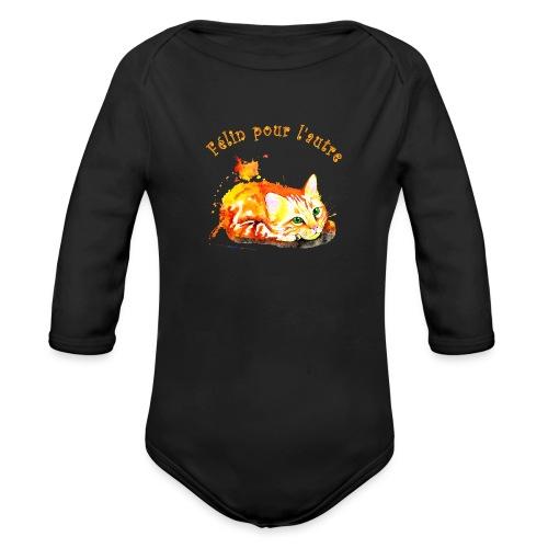 Chat roux,Félin pour l'autre - Body Bébé bio manches longues