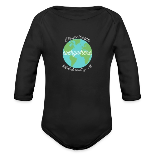 Travel the World - Ekologisk långärmad babybody