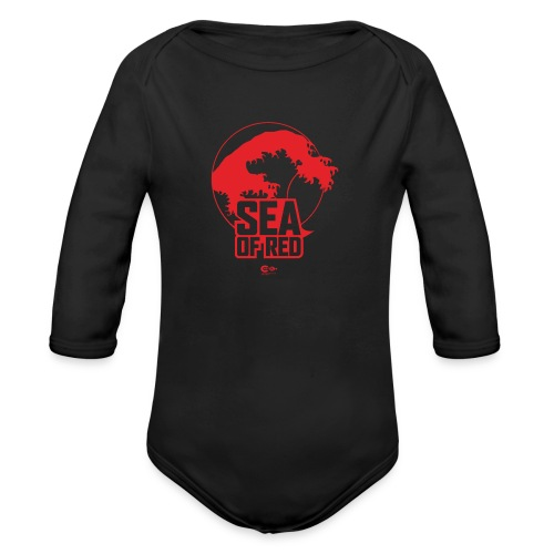 Sea of red logo - red - Organic Longsleeve Baby Bodysuit