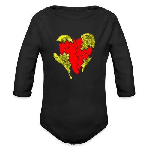 peeled heart (I saw) - Organic Longsleeve Baby Bodysuit