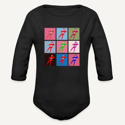 Stańczyk Warhol bez tla - Ekologiczne body niemowlęce z długim rękawem