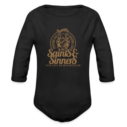 Kabes Saints & Sinners - Organic Longsleeve Baby Bodysuit