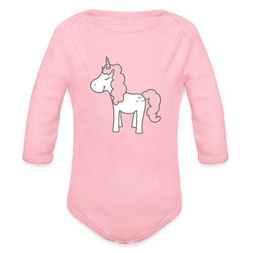unicorn as we all want them - Langærmet babybody, økologisk bomuld