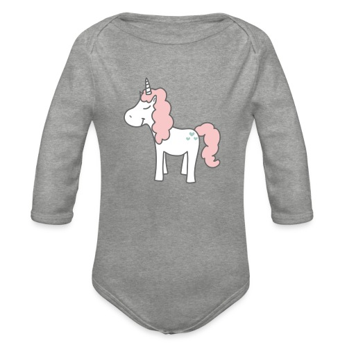 unicorn as we all want them - Langærmet babybody, økologisk bomuld