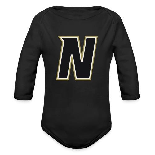 Nordic Steel Black N - Organic Longsleeve Baby Bodysuit