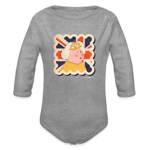 The Queen - Organic Longsleeve Baby Bodysuit