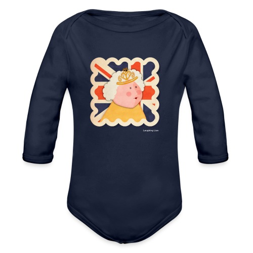 The Queen - Organic Longsleeve Baby Bodysuit