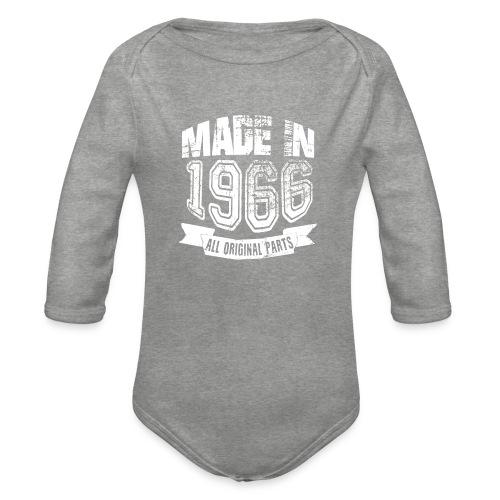 Made in 1966 - Body orgánico de manga larga para bebé
