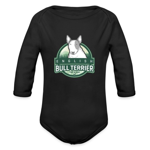 English Bull Terrier FOREST - Baby Bio-Langarm-Body
