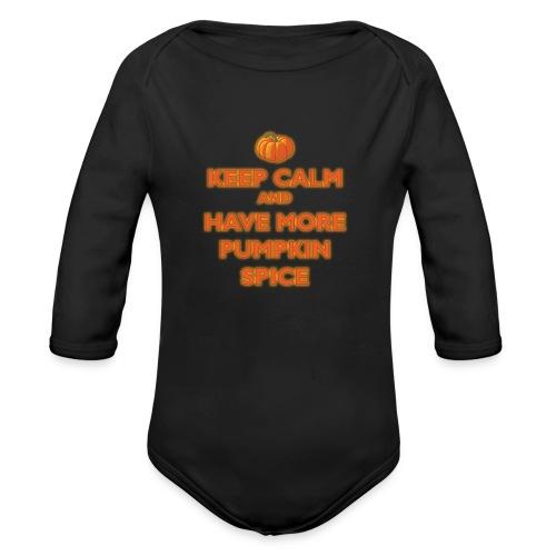 KeepCalmPumpkinSpice - Body ecologico per neonato a manica lunga