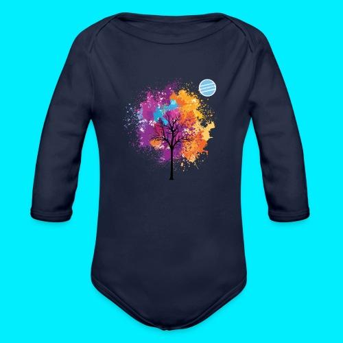 LOGO AUTUNNO BANCOMATTI - Body ecologico per neonato a manica lunga