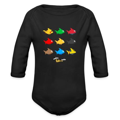 Swim! Yellow! Swim! - Baby bio-rompertje met lange mouwen
