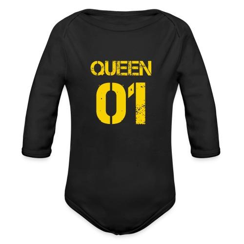 Queen - Ekologiczne body niemowlęce z długim rękawem