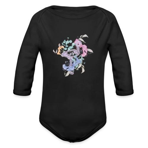 peacock - Organic Longsleeve Baby Bodysuit