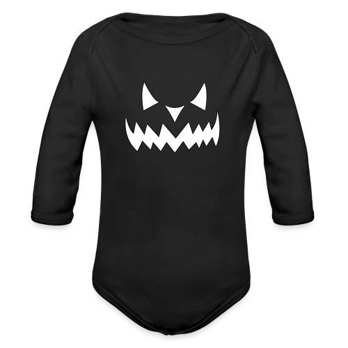 Halloween Face - Baby Bio-Langarm-Body