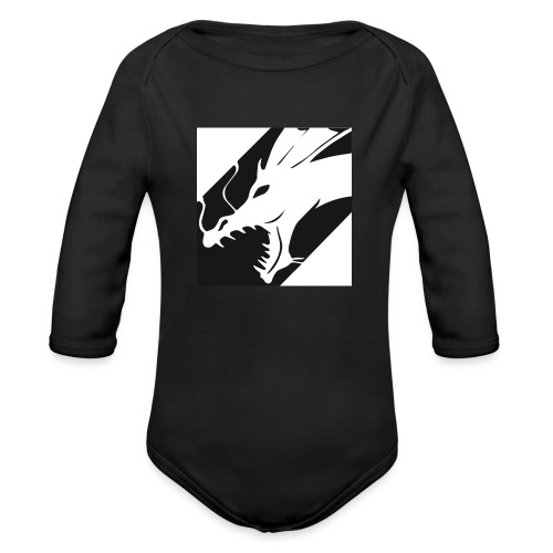 Dragon Black - Baby bio-rompertje met lange mouwen