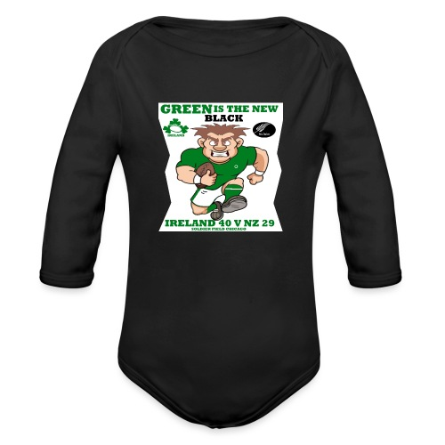 GREEN IS THE NEW BLACK !! - Organic Longsleeve Baby Bodysuit