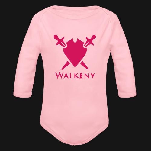 Das Walkeny Logo mit dem Schwert in PINK! - Baby Bio-Langarm-Body