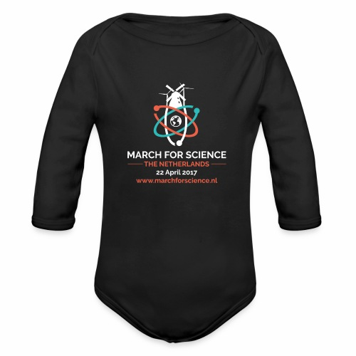 MfS-NL logo dark background - Organic Longsleeve Baby Bodysuit