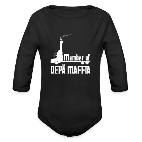 Depå Maffia vitt tryck - Ekologisk långärmad babybody