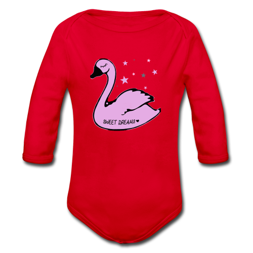 swan sweet dreams - Baby Bio-Langarm-Body