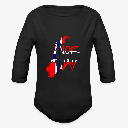 Norway Norwegen - Baby Bio-Langarm-Body