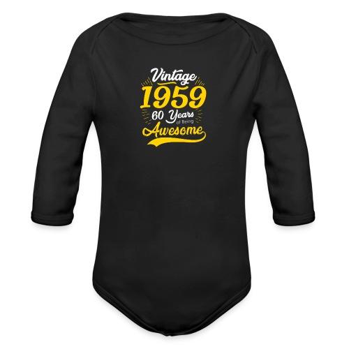 Vintage 1959 60th Birthday - Body ecologico per neonato a manica lunga