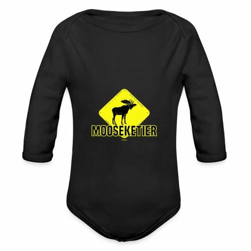 Moosketier - Baby bio-rompertje met lange mouwen