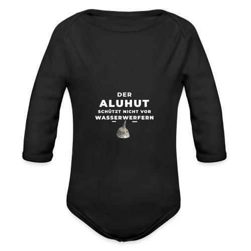Aluhut und Wasserwerfer - Baby Bio-Langarm-Body
