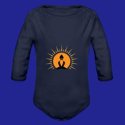Guramylyfe logo no text black - Organic Longsleeve Baby Bodysuit
