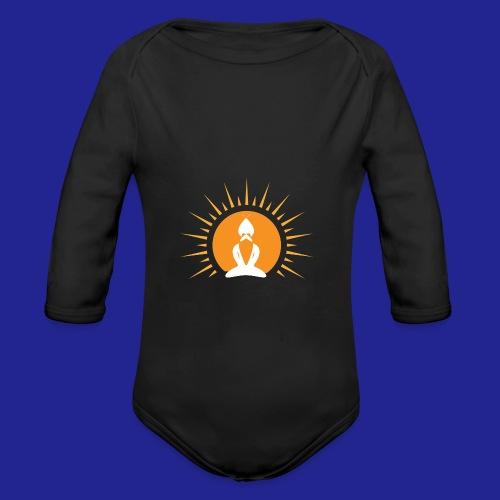 Guramylyfe logo no text - Organic Longsleeve Baby Bodysuit