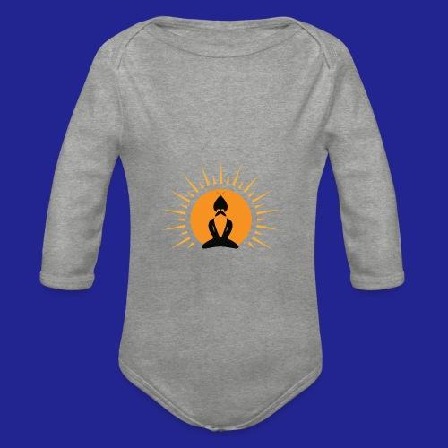 Guramylife logo black - Organic Longsleeve Baby Bodysuit