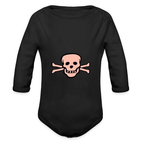 skull tattoo style - Baby Bio-Langarm-Body