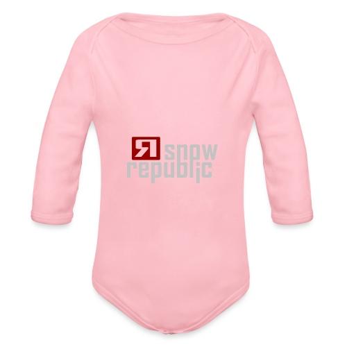 SNOWREPUBLIC 2020 - Baby bio-rompertje met lange mouwen
