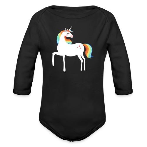 stolzierendes Einhorn bezaubernd Pferde Fabelwesen - Baby Bio-Langarm-Body
